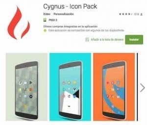 iconos Android personalizados