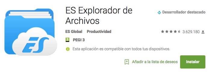 Exploradores de Archivos de Android