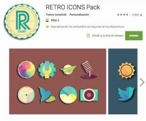 iconos retro Android