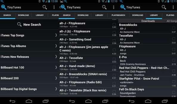 aplicación música Android