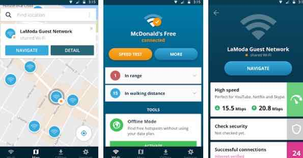 gestionar wifi Android
