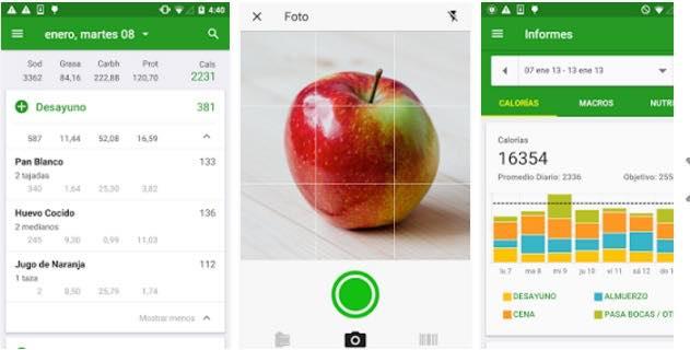 aplicaciones para hacer dieta