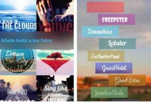 aplicaciones para escribir en fotos