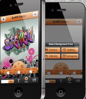 aplicación graffitis