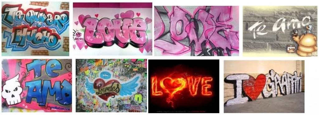 mejores graffitis de amor