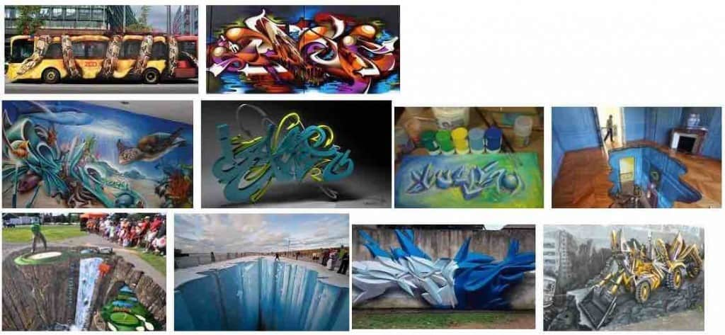 aprender a dibujar graffitis en 3d