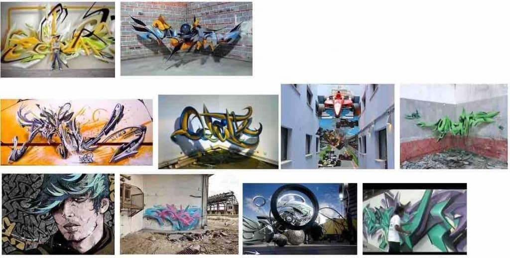 como pintar graffitis en 3d