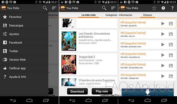 descargar películas gratis Android