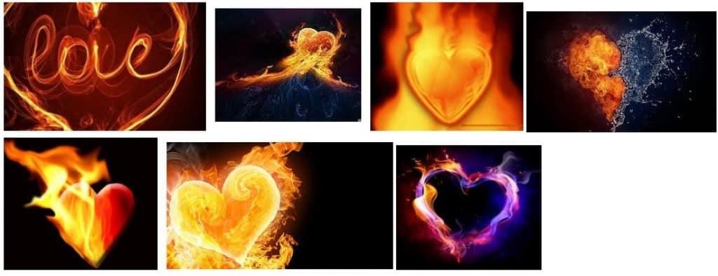 mejores graffitis corazón de fuego
