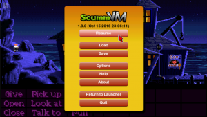 El emulador de Android ScummVM 2018