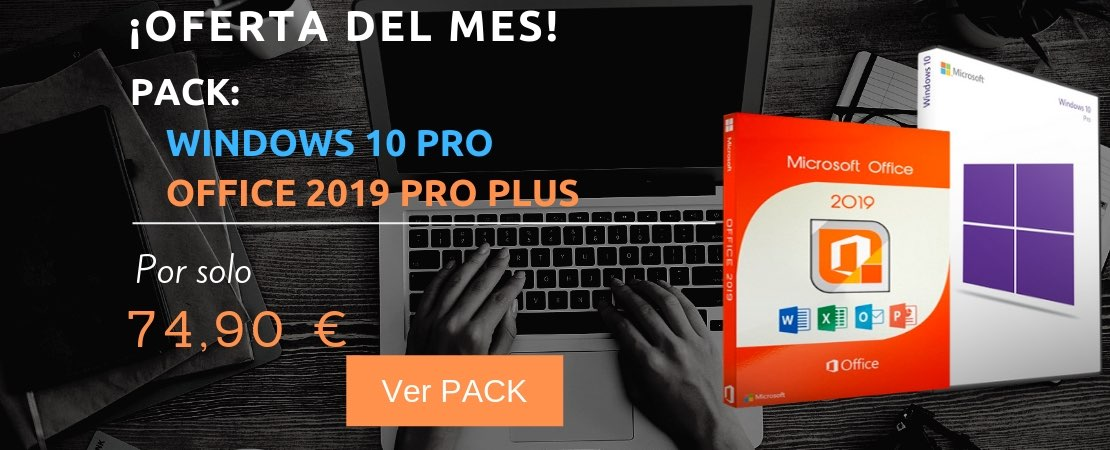 Super Oferta de Windows 10 Pro + Office 2019