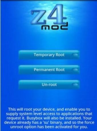 Z4root – Aplicación para ser Root en Celular Android